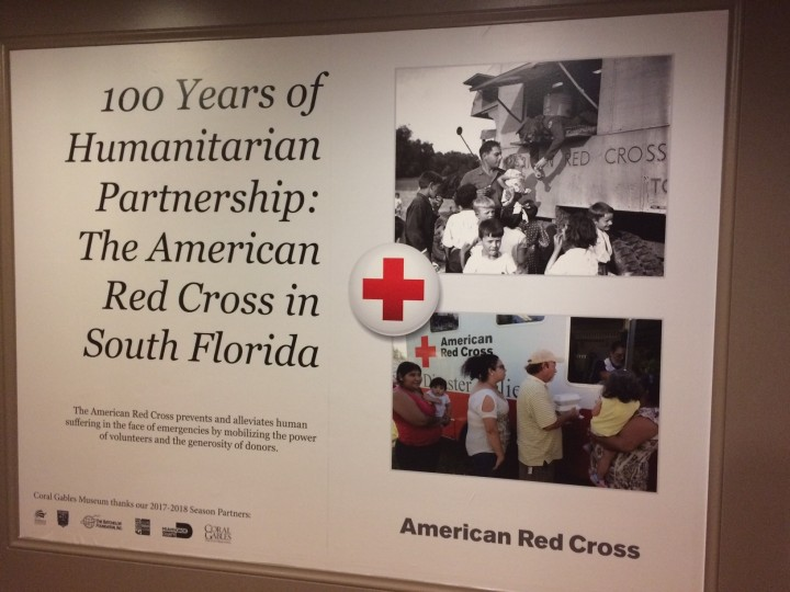 The Red Cross Centennial Exhibit at the Coral Gables Museum.