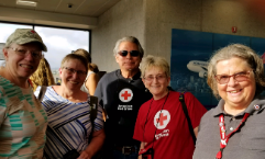 Gaenor Speed and other Red Cross volunteers.