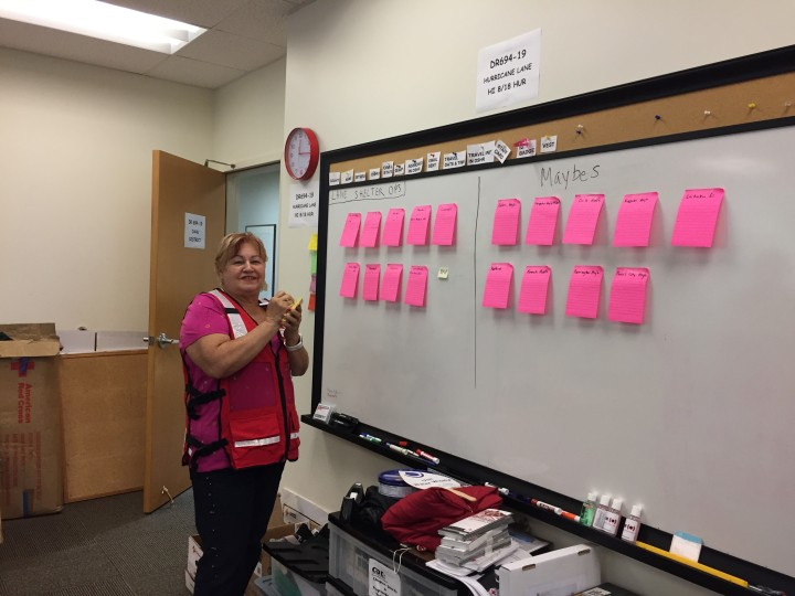 Gloria Mejia at the Red Cross Hawaii Chapter headquarters.