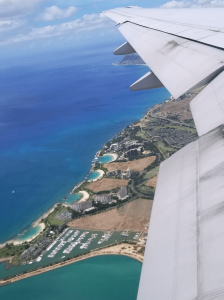 Hawaii from the airplane.