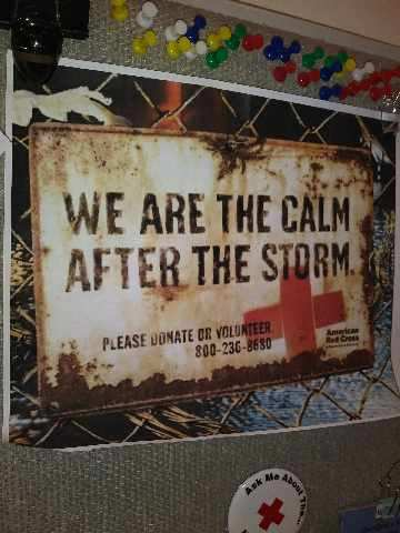 We are the Calm after the Storm sign